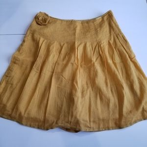J. Crew Pleated Merigold Yellow A Line Skirt 2
